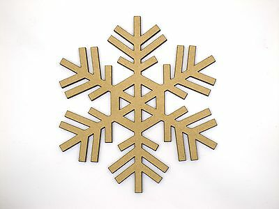 Eight 10cm Snowflake Craft Wood 3mm MDF For Your Frozen Christmas Needs sf005