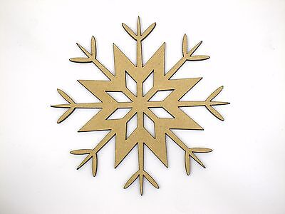 Eight 10cm Snowflake Craft Wood 3mm MDF For Your Frozen Christmas Needs sf006