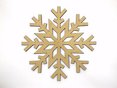 Eight 10cm Snowflake Craft Wood 3mm MDF For Your Frozen Christmas Needs sf008
