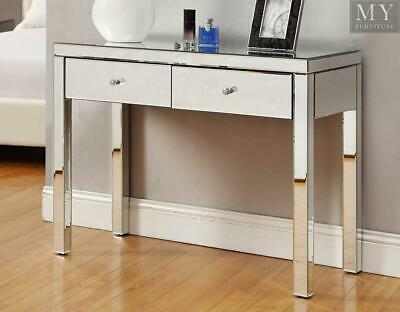 REFLECTIONS Mirrored Console Hallway Dressing Table 2 Drawer