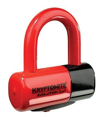Kryptonite Mx Evolution Series 4 Motocross Dirt Bike Moto Security Red Disc Lock