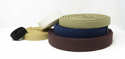 Cotton Canvas Webbing, Belt, Bag Strap - Thick Quality 25mm, 38mm or 50mm