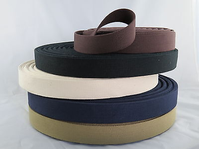 38mm Cotton Canvas Webbing Belting Fabric Strap Bag Making Thick Quality