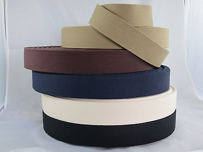50mm Cotton Canvas Webbing Belting Fabric Strap Bag Making Thick Quality
