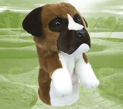 Boxer Dog Daphne's Large Golf Club Driver 1 Wood Headcover 460cc Head