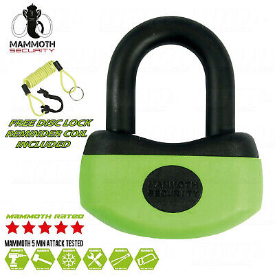 Thatcham Security Approved Mini U-Lock Motorcycle Disc Lock With Reminder Coil
