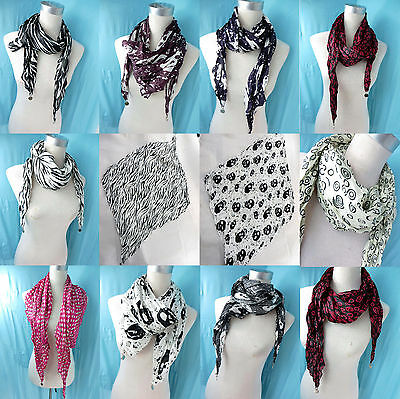 *US SELLER*lot of 5 wholesale  lightweight diamond shaped scarf