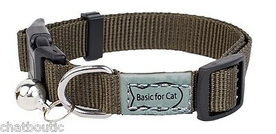 Collier chat Basic line Kaki - 30 cm (124942KAK)