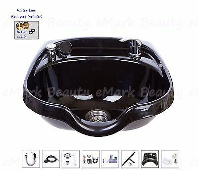Shampoo Bowl Black ABS Plastic Hair Sink Beauty Salon Spa TLC-B12-KRGT