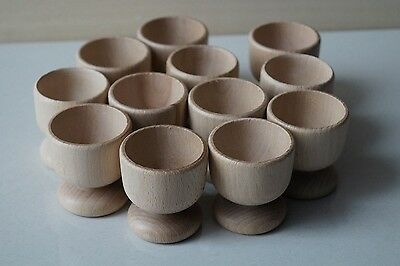 Wooden EGG CUPS Holders Crafts Wedding Favours set of 20, 40, 80, 120, 200, 500