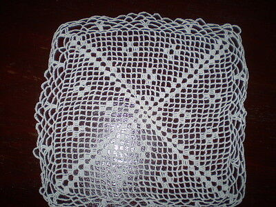 hand-knitted beautiful  small doily 100% Cotton  White