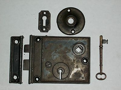 Antique Rim Lock Complete Set #8