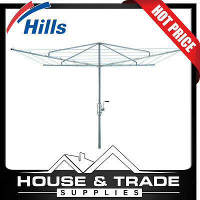 Hills Heritage Hoist 4 40m Line Fixed Head Galvanised Steel Clothesline FD52600