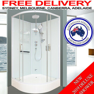 Asnzs Glass Shower Screen Cubicle Enclosure Jets Mixer Base Easy Diy Assembly