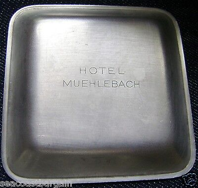 Muehlebach Hotel Trinket Tip Tray Etched Kansas City US Presidential History