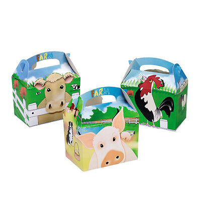 Children's Kids  Farm Yard Birthday Party Box Bag Loot Favour