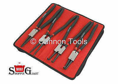 """4Pc 13"""" Circlip Plier Set Snap Ring Double Dipped Handle Steel Quality CT2337"""