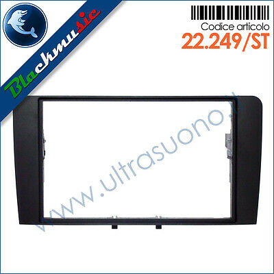 Mascherina supporto autoradio 2ISO-2DIN Audi A3 (8P rest. 2007-2013)