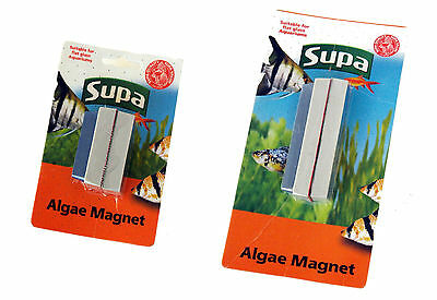 Supa Algae Magnet Aquarium Fish Tank Glass Cleaners in 2 Sizes