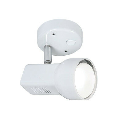 60w Retro R64 white ceiling or wall single switched spot light fitting