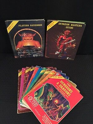 Dungeons & Dragons Players Handbook, Masters Guide, Basic Rules & 9 Modules