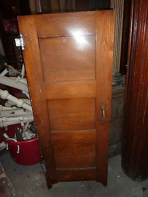 Circa 1940 salon style BATHROOM stall door HEART PINE 52 x 20 ~ 3 panel DOOR