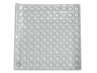 "100pcs 3/8"" Rubber Silicon Kitchen Cabinet Door Glass Pad Bumper Damper Cushion"