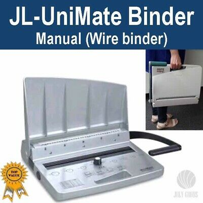 Brand New Wire Binder, Binding Machine JL-UniMate (3:1 pitch, 34 holes punch)