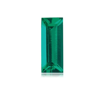 Hydrothermal Lab Created Emerald Green Baguette cut Loose stone (4x2-18x13mm)