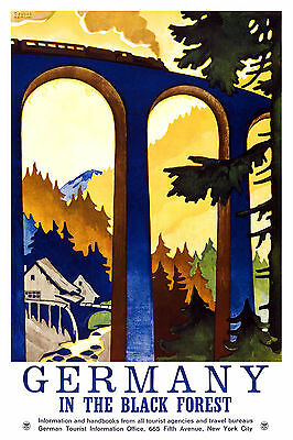 0257 Vintage Travel Poster Art - Germaany The Black Forest