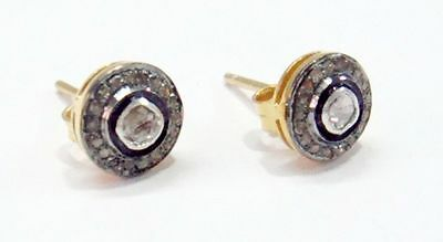 Antique1.10cts Rose Cut Diamond & Polki Earrings, Free Shipping Worldwide