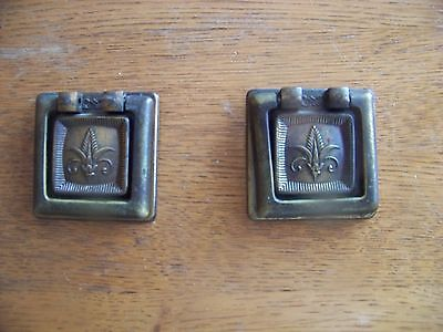 Lot of 2 vintage style drawer pull handles