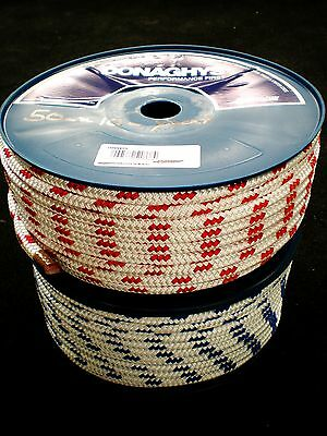 "50m x 10mm DOUBLE BRAID POLYESTER YACHT ROPE ""NEW"""