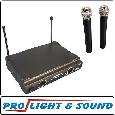 Two Wireless Microphone UHF  520-526mHz Fully compliant Aust Regs 100m range