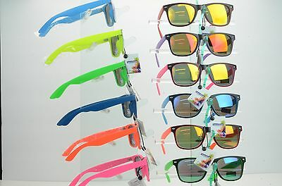 1 CASE of 12  Fashion Way farer Sunglasses 9043 and 12 free microfiber bags
