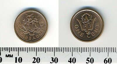 Barbados 2009 - 1 Cent Copper Plated Steel Coin - Broken Trident
