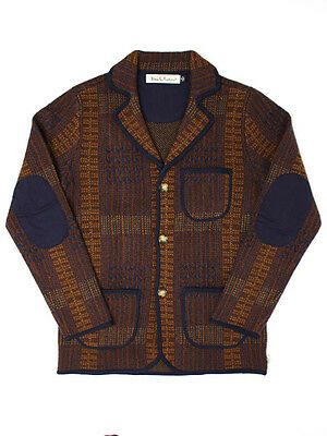 Deus Ex Machina Mccall Jacket Indigo Tarmac Check [Dmw38147-Brown] Rrp $279.95