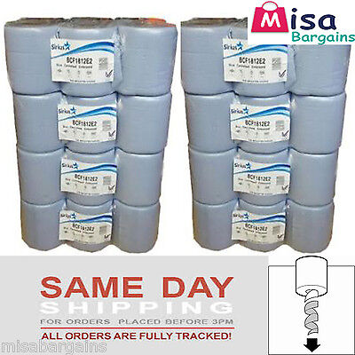 48 x Blue Rolls 2 PLY Centrefeed Paper Wiper Roll Towels (8 Packs x 6 ) 85m