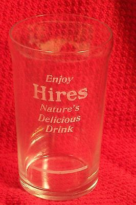 Early Vintage Hires Root Beer Advertising Drinking Glass W/syrup Line