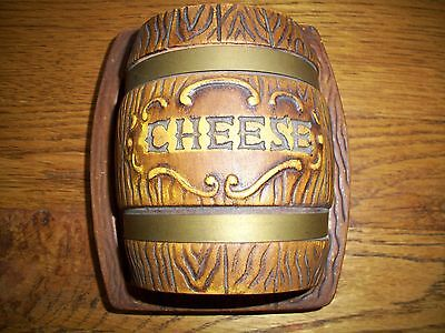 L & M (LIPPER & MANN) COVERED CHEESE DISH-BARREL SHAPED