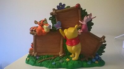 disney winnie the pooh picture frame mint condition rare item