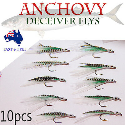 Anchovy Deceiver Fly Fishing Lures Saltwater Flies Shrimps Bugs BASS BREAM rods