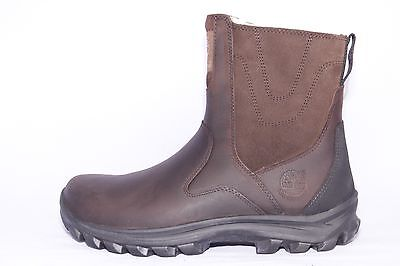 Timberland Men's Chillberg WATERPROOF Side zip Mid Brown Boots #9560R ALL SIZES