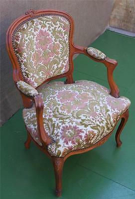 A Fine French Louis Xv Style Upholstered  Arm Chair