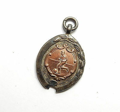 Antique Chester 1947 925 Silver ALBERT WATCH FOB FOOTBALL MEDAL 9.4g