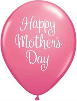 """Happy Mothers Day Classy Script Rose Pink 11"""" Qualatex Latex Balloons x 10"""
