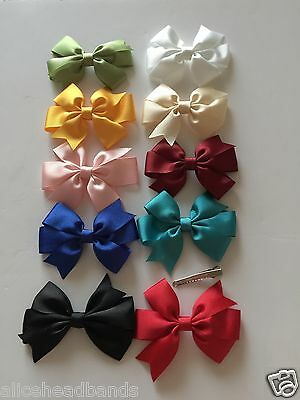 BOW HAIR CLIP GROSGRAIN RIBBON ALLIGATOR FLOWER BABY/ GIRLS HOT NEW + Lot