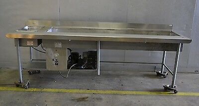 "Used Custom Refrigerated, SC 80"" Cold Well and 1 pan Hot Well Combo Free Ship!"
