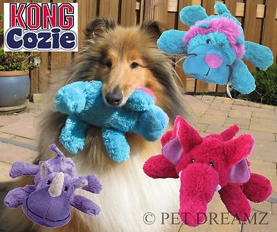 Kong Cozies - Plush Animal Squeaky Dog Puppy Toy Soft Cuddly – 2 Sizes