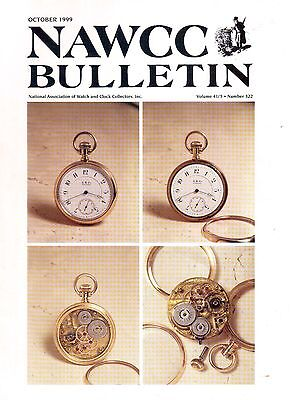 NAWCC BULLETIN (HOROLOGY)  - (1999)  - 4 vintage issues!